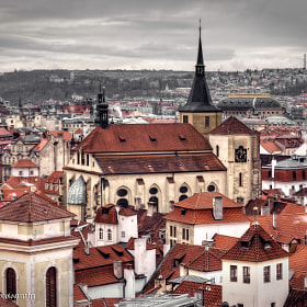 Over the red rooftops of Prague by Kate Eleanor Rassia on 500px.com