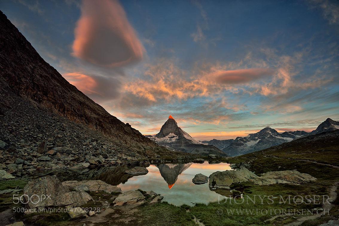 Photograph Matterhorn first light by Dionys Moser on 500px