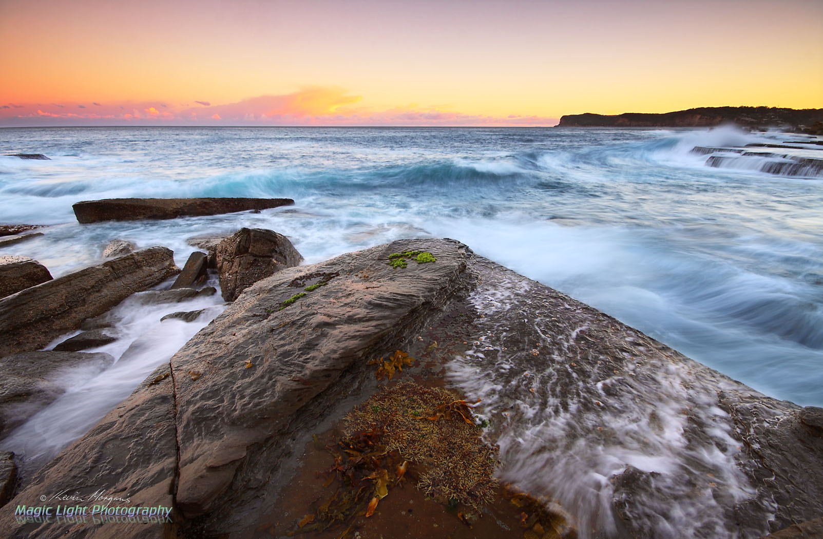 Photograph Sunset at Terrigal Haven Rocks by Kevin Morgan on 500px