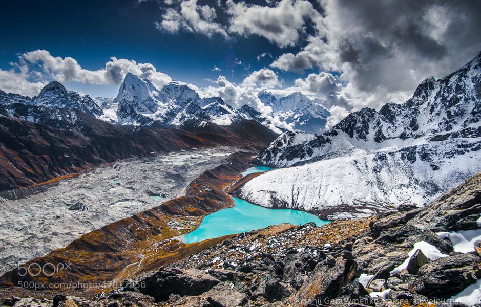 Photograph Himalayas from Gokyo Ri Peak (5400 m) by Arsenii Gerasymenko on 500px