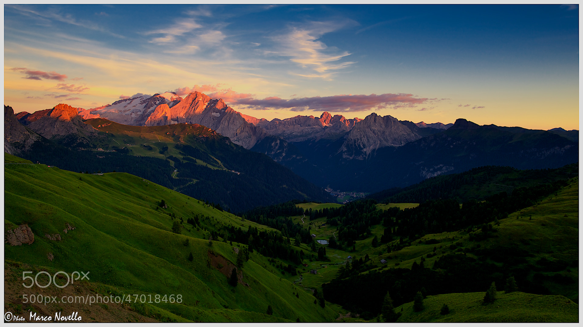 Photograph Marmolada at sunset by Marco Novello on 500px