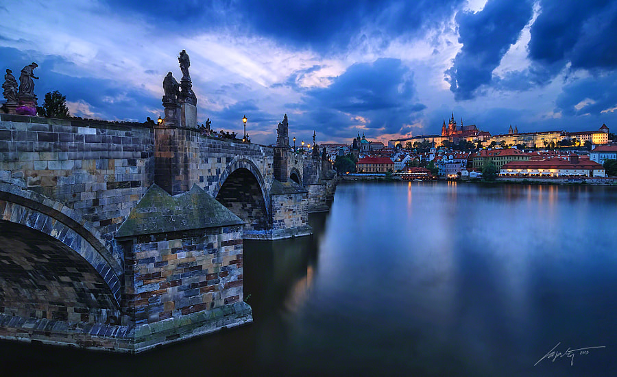 Charles Bridge Sunset by Marek Kijevský on 500px.com