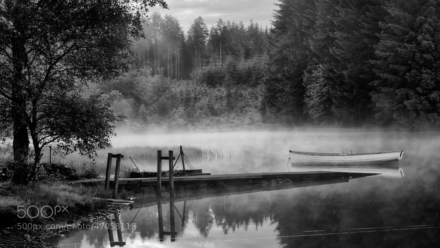 Photograph Loch Rusky Summer mono... by David Mould on 500px