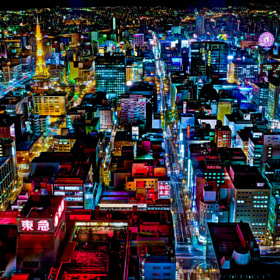 Sapporo Night Lights by tourmania ) on 500px.com