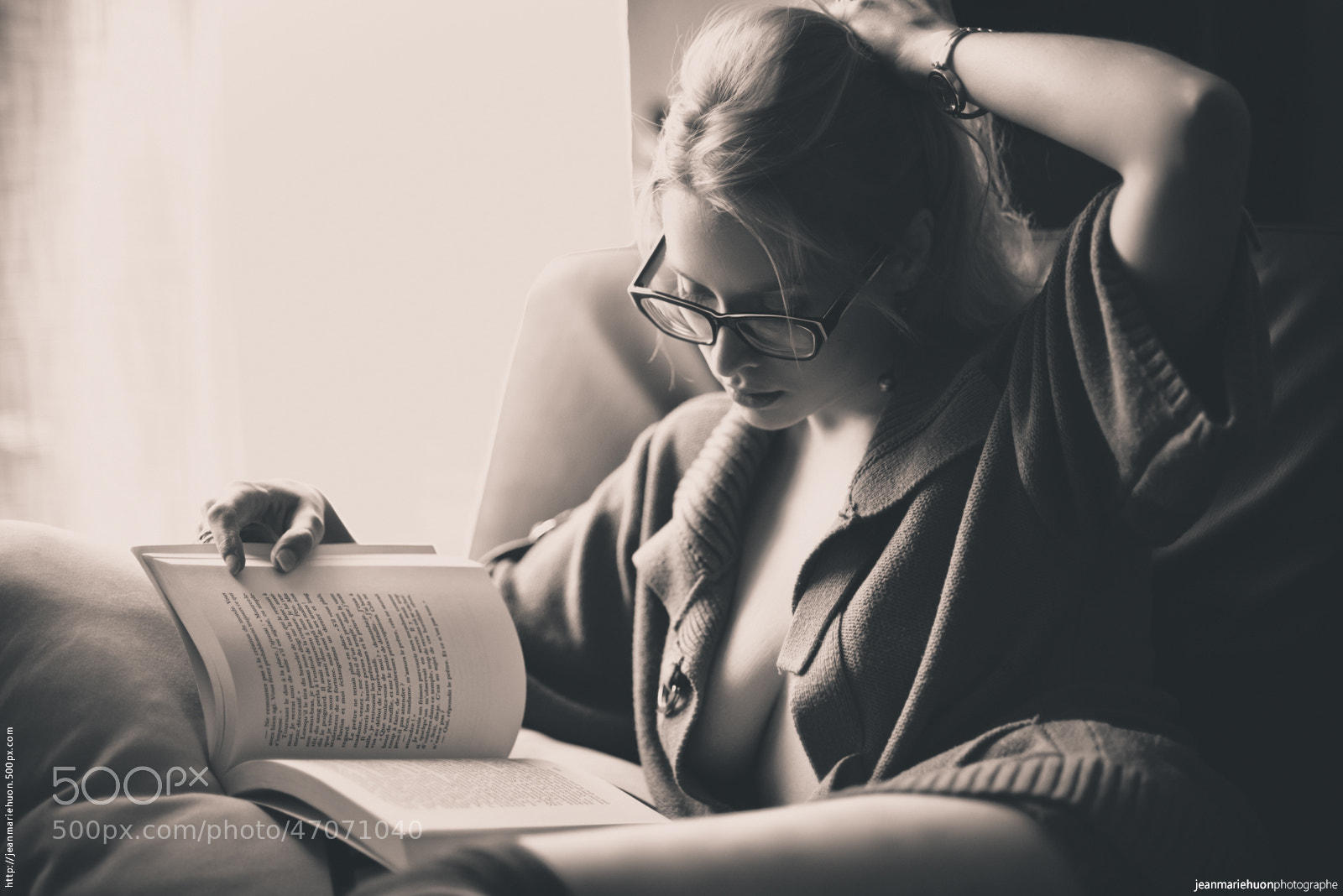 Photograph Studious blond beauty by Jean-Marie HUON on 500px