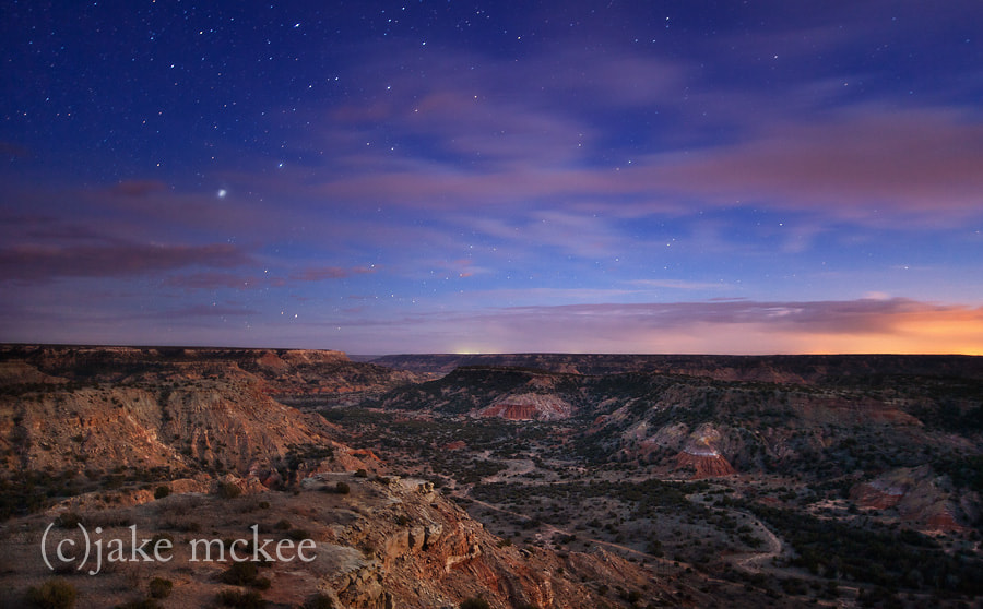 Photograph Night falls over Palo Duro Canyon by Jake  McKee on 500px