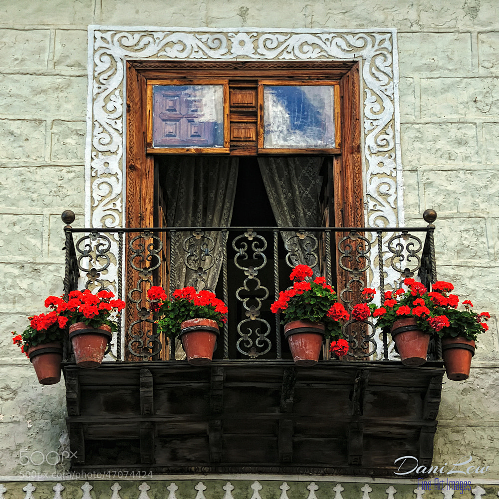 Photograph Details of a balcony window in a Canary Island town by Danielle Lewis on 500px