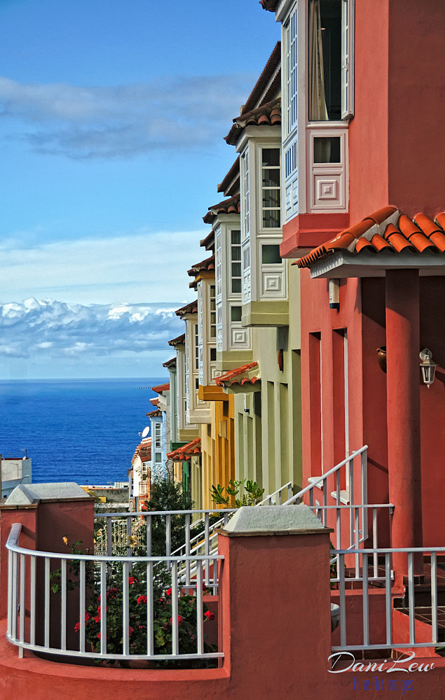 Photograph Colorful row houses in a Canary Island town by Danielle Lewis on 500px