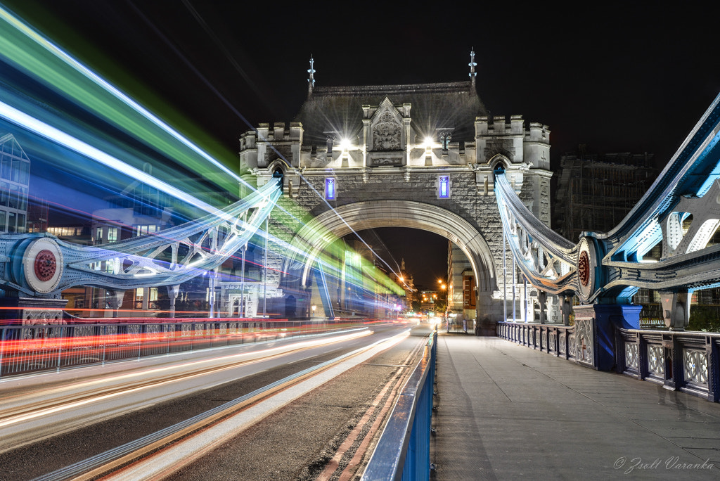 Photograph busy bus trails on London Tower Bridge by Zsolt Varanka on 500px