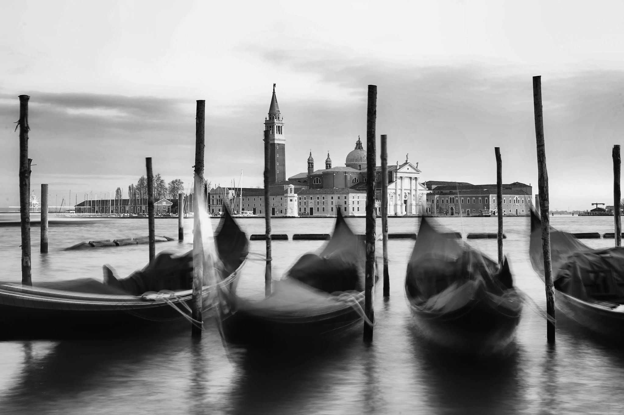 Photograph Gondolas in the evening, Venice, Italy. by Sabrina Marchi on 500px