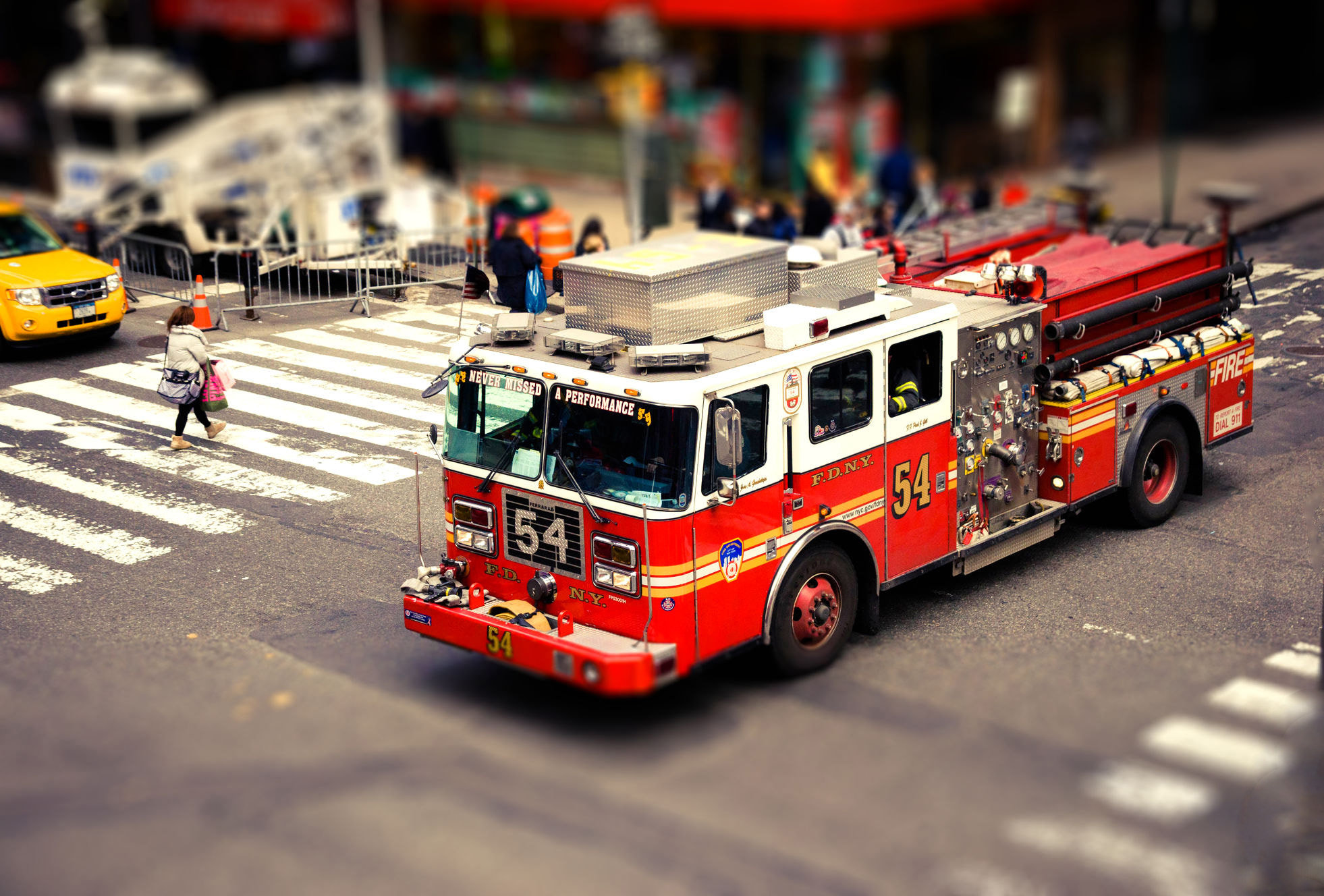 Photograph NEW YORK CITY -Times Square, FDNY. Tilt shift effect. by Sabrina Marchi on 500px