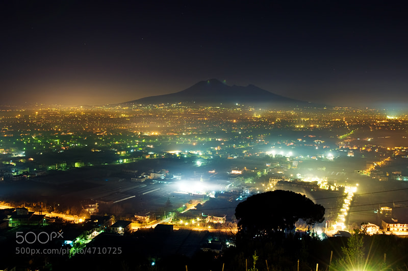 Photograph Vesuvius in the night by Yulia Kuznetsova on 500px