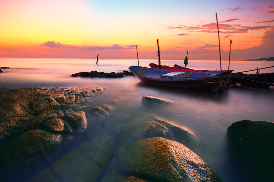Photograph Sea after sunset by Prachit Punyapor on 500px
