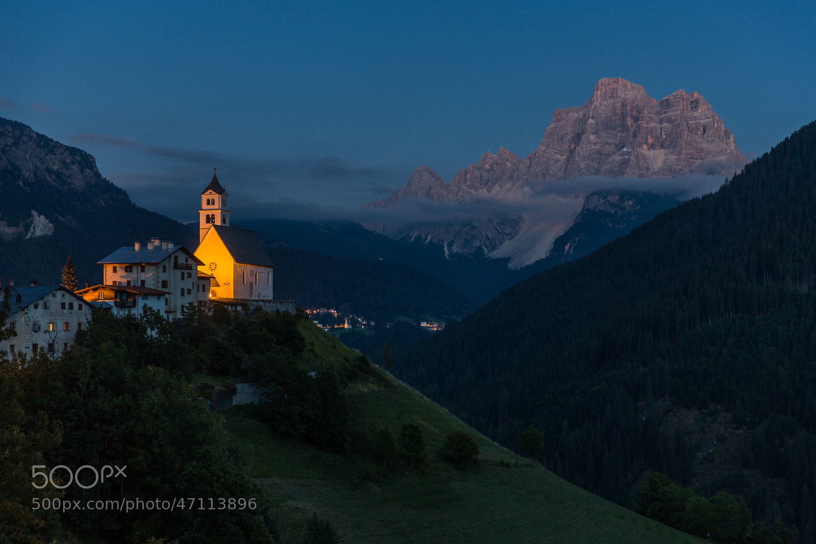 Photograph Colle Santa Lucia after sunset by Hans Kruse on 500px
