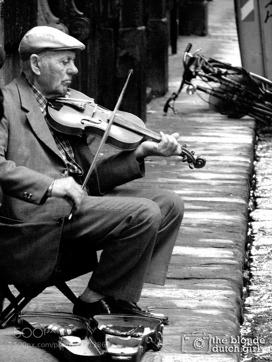 Photograph A man and violin in Florence by The Blonde Dutch Girl  on 500px