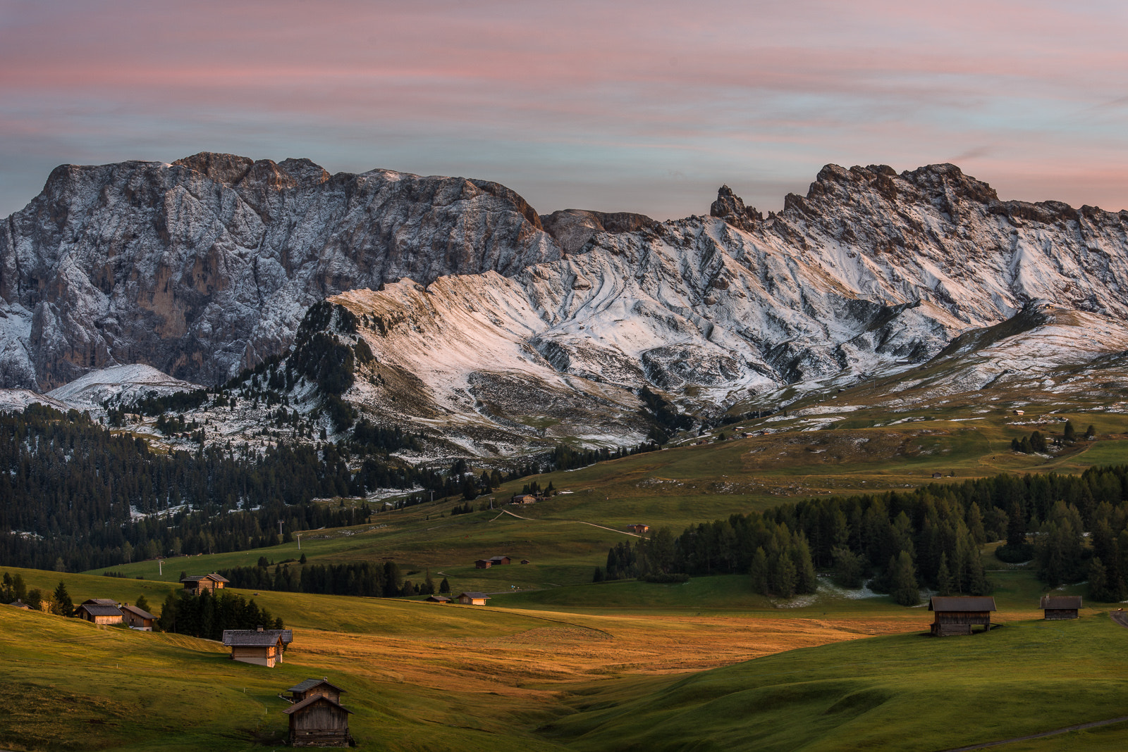 Photograph Sunset at Alpe di Siusi by Hans Kruse on 500px