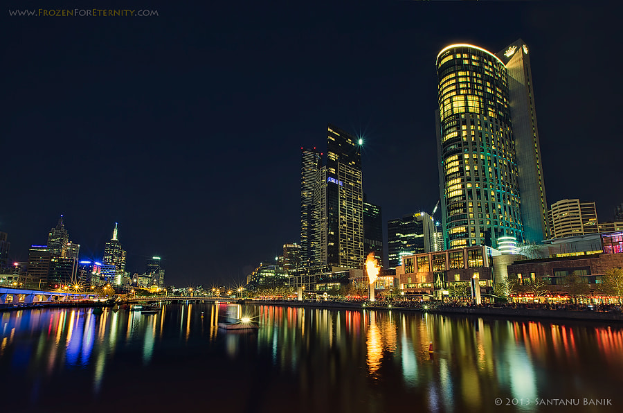 Melbourne City at night by Santanu Banik on 500px.com