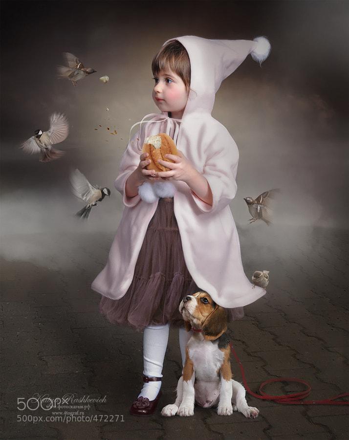 Photograph Девочка, кормящая птиц by Katya Rashkevich on 500px