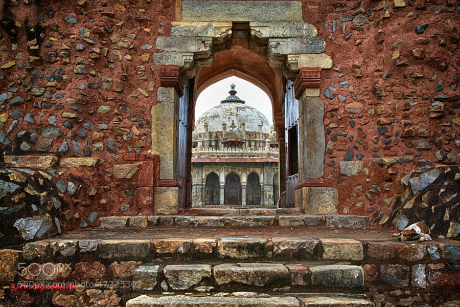 Digital HDR image of Isa Khan Tomb in Delhi, India
