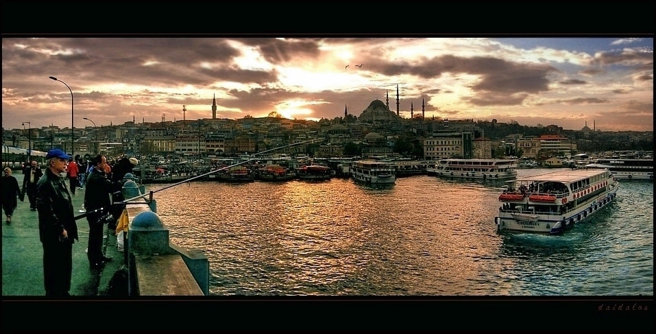 Photograph evening on the bridge by Levent Yersal on 500px