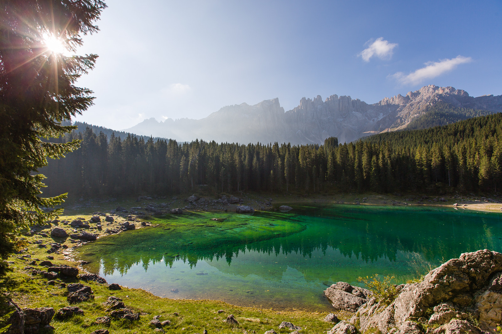 Photograph Lago di Carezza in morning light by Hans Kruse on 500px