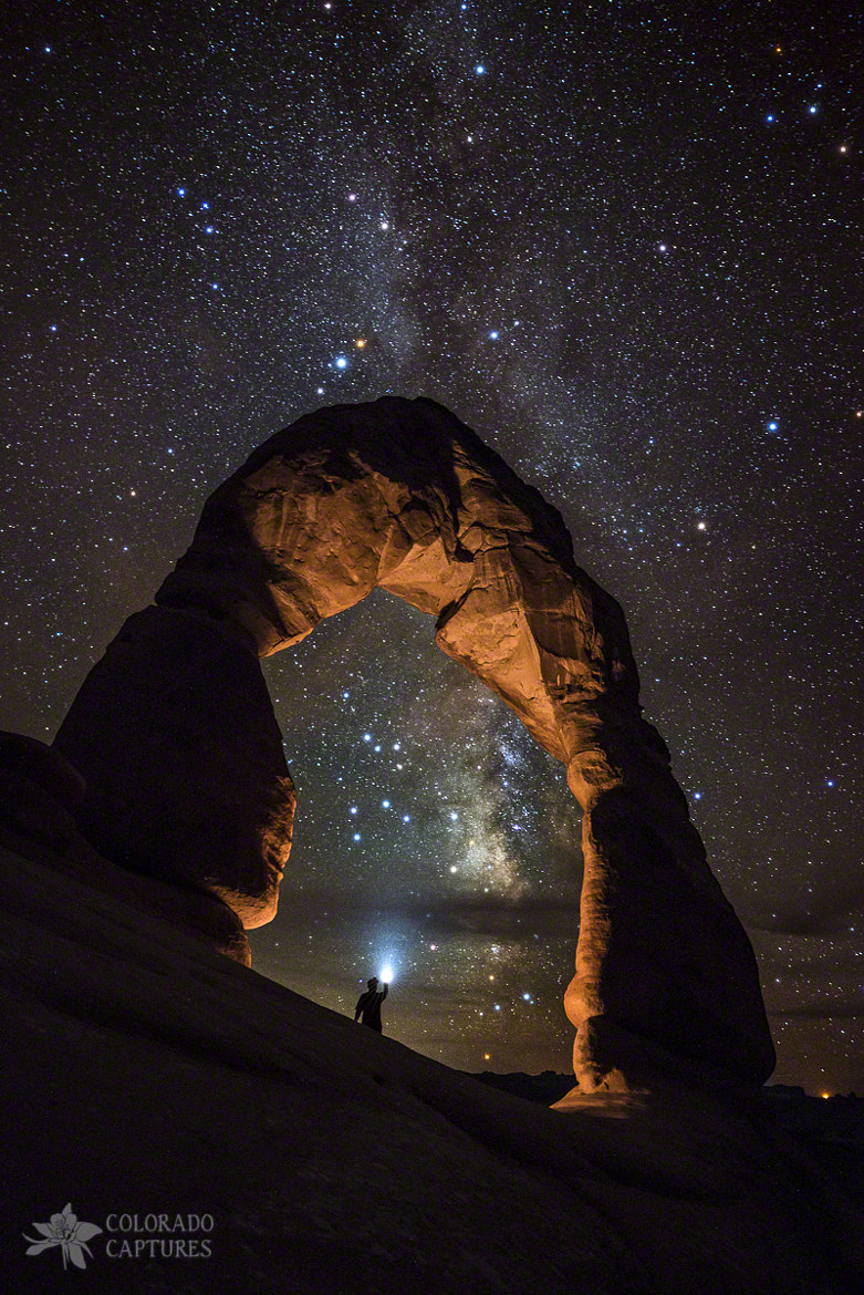 Photograph Milky Way Illumination At Delicate Arch by Mike Berenson on 500px