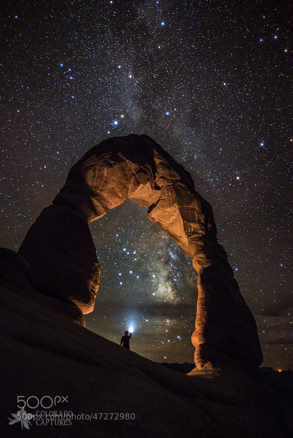 Photograph Milky Way Illumination At Delicate Arch by Mike Berenson - Colorado Captures on 500px