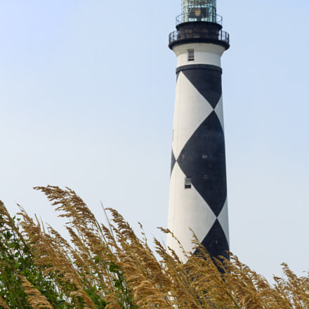 Cape Lookout Lighthouse and Sea Oats