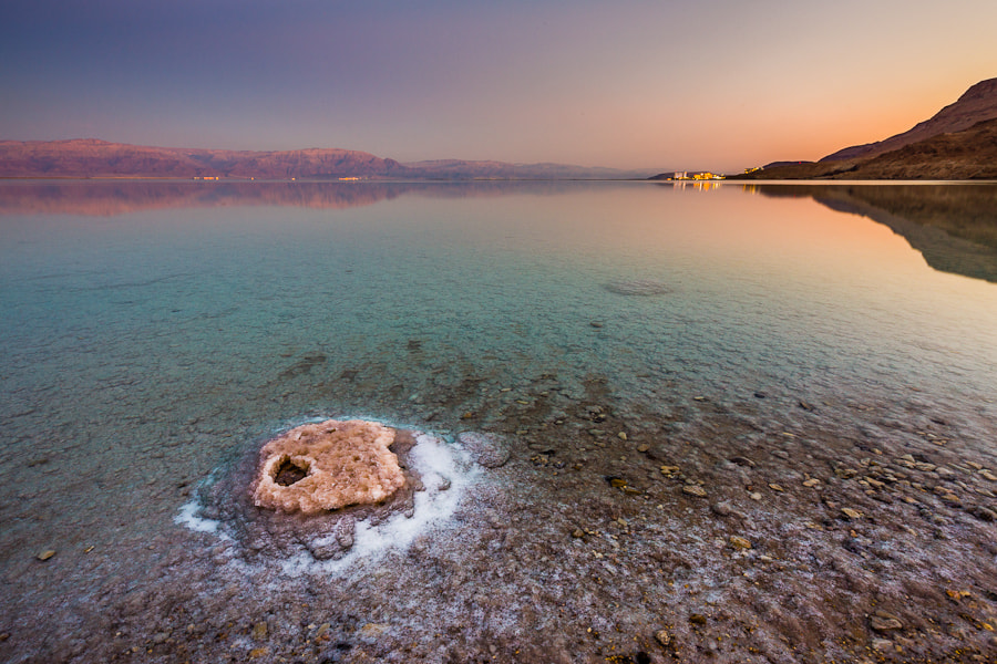 Photograph Evening Light at the Dead Sea by Hans Kruse on 500px