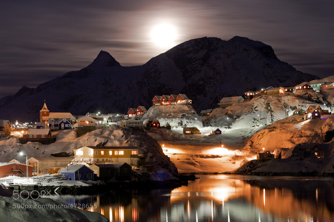 Photograph Sisimiut by night by Lars Weiss on 500px