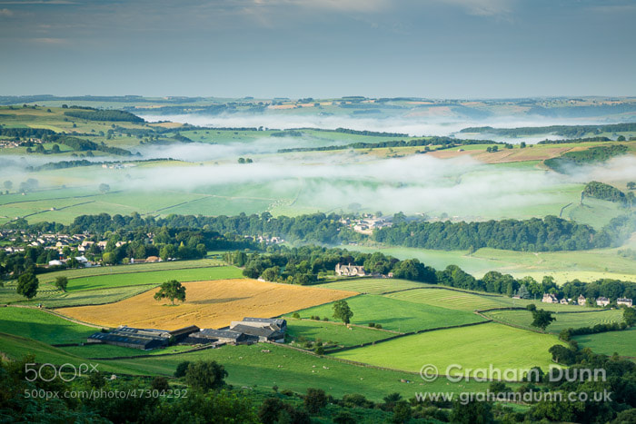 Photograph Baslow fields and mist - Peak District by Graham Dunn on 500px