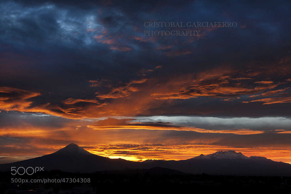 Photograph Sunset and volcanoes by Cristobal Garciaferro Rubio on 500px