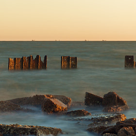 Shot from another early morning trek to Galveston Bay.