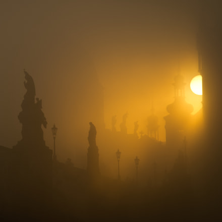 Golden morning in Prague