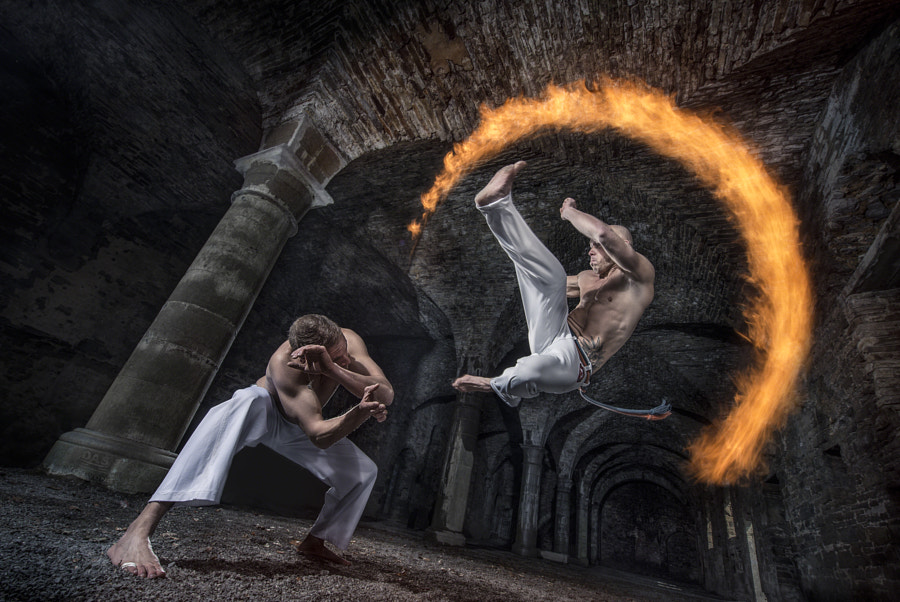 Capoeira and Fire by Benjamin Von Wong on 500px.com