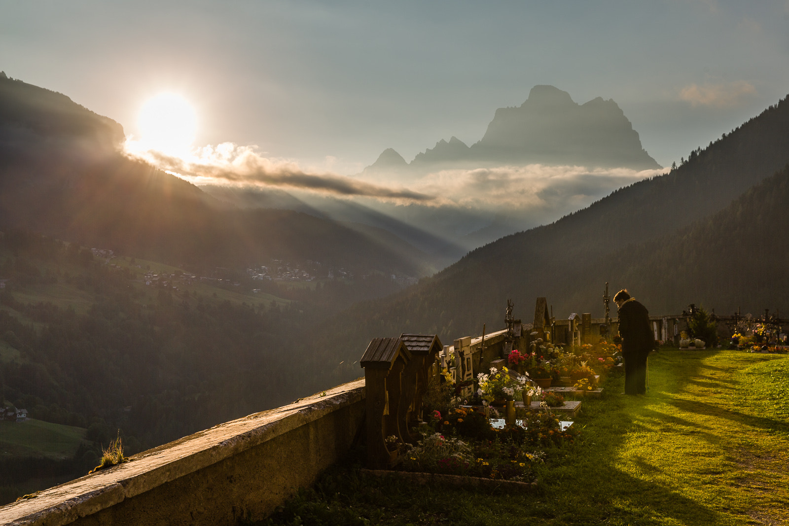 Photograph Early morning visit to the grave yard at Colle Santa Lucia by Hans Kruse on 500px