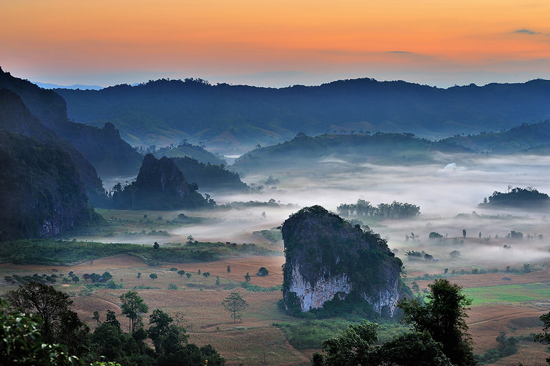 Photograph Morning fog by Kittipop Laohakul on 500px
