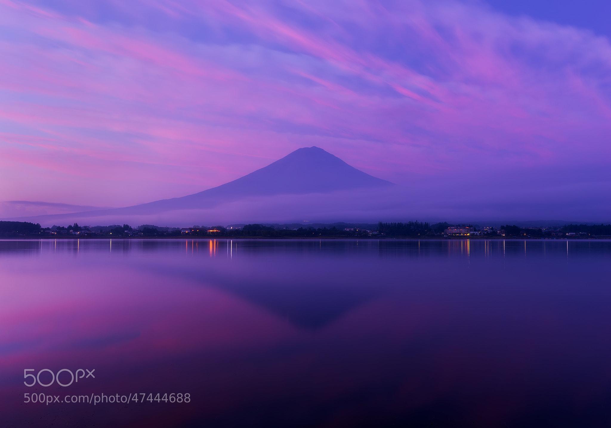 Photograph Purple Fuji Sunrise by Agustin Rafael Reyes on 500px