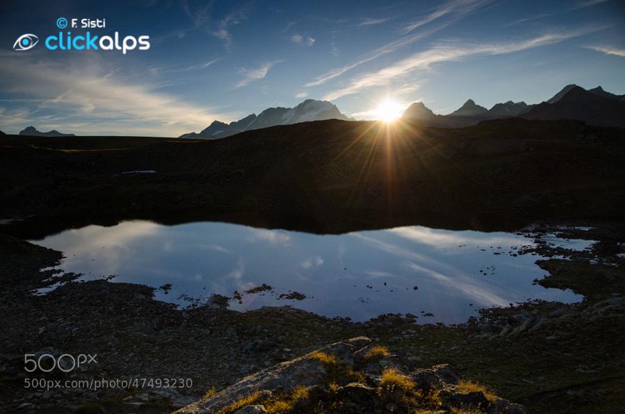 Photograph Alba al Lago Leità (Valsavarenche, Parco Nazionale Gran Paradiso, Valle d'Aosta) by Francesco Sisti on 500px