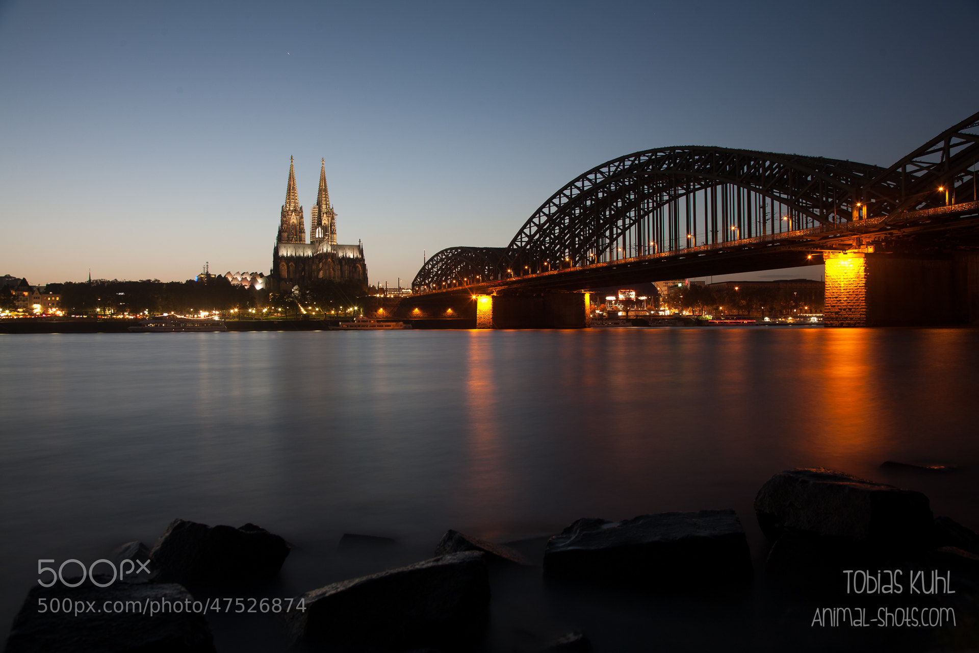 Photograph Riverside view of Cologne by Tobias Kuhl on 500px