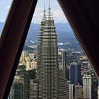 The Petronas Twin Towers (photographed from KL tower)