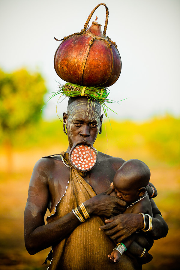Photograph Mursi with Child by Dmitri  Markine on 500px