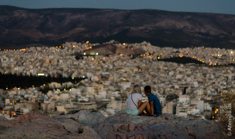 Night at Filipapous Hill .. Athens View no. 47