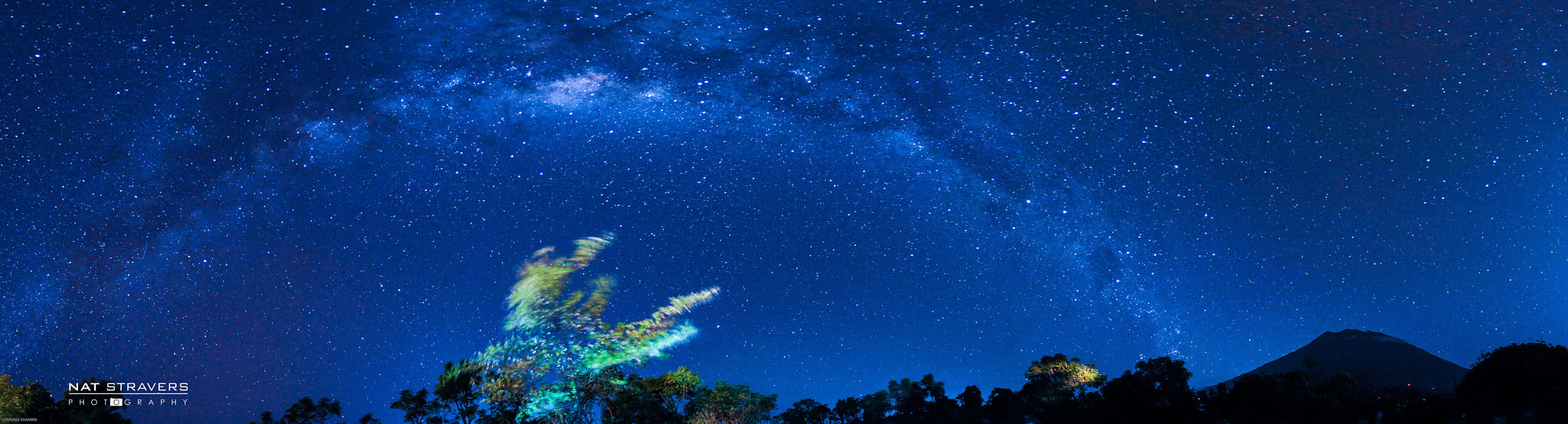 Photograph Milky Way over Agung mountain - Bali by Nathalie Stravers on 500px