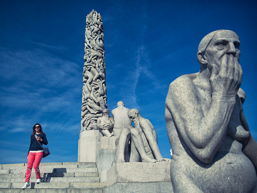 Monica in the Vigeland Sculpture Park by Samuele Silva on 500px.com