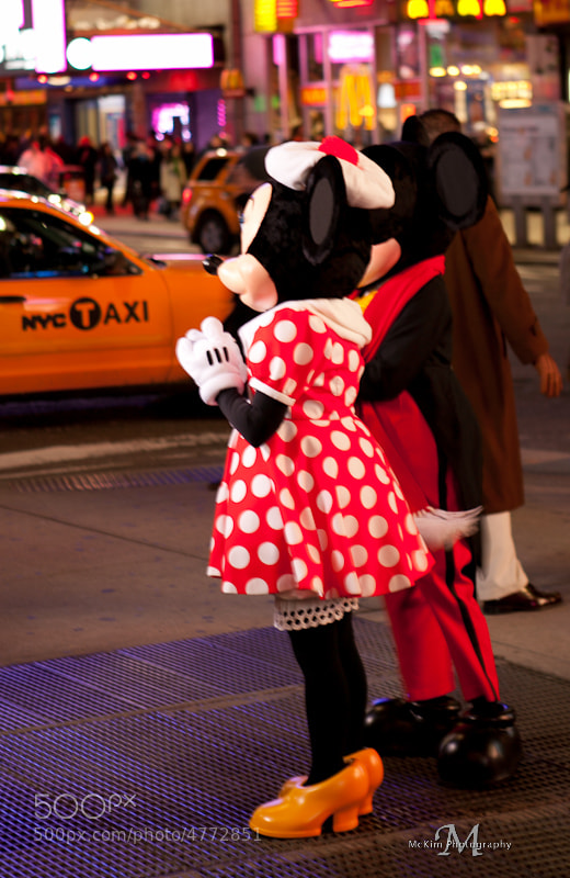 Disney Cruise lines shoot in Times Square NYC 2012 Walt Diney World Mickey and Minnie mouse in Times Square NYC