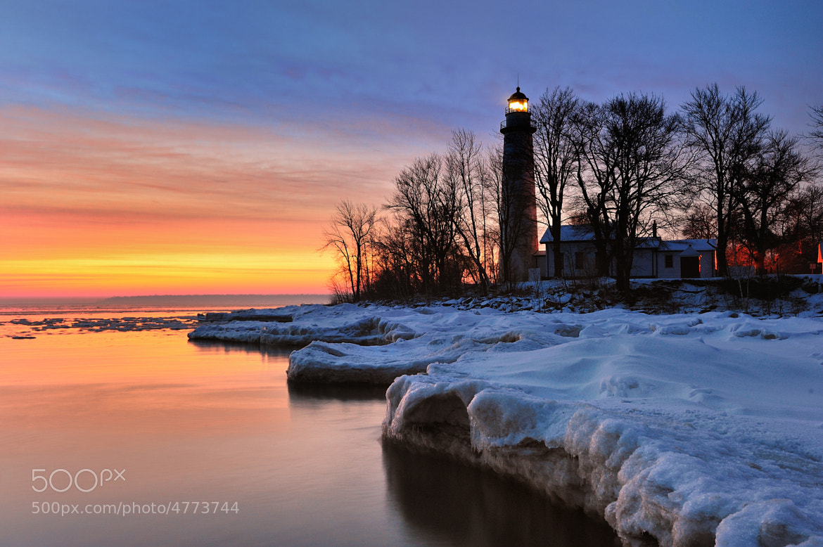 """Photograph """"Winters Dawn""""  Point Aux Barques Lighthouse - Port Hope, Michigan by John McCormick on 500px"""
