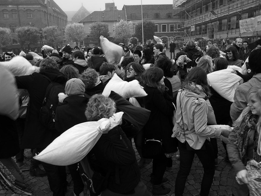 Photograph Pillow Fight in Lund by Victor Gan on 500px
