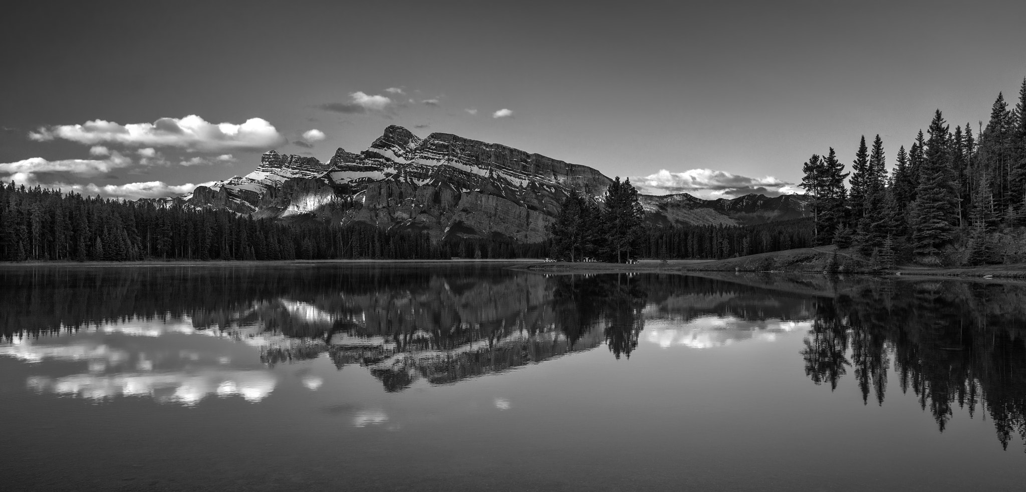 Photograph Two Jack Lake by Sheldon Spurrell on 500px