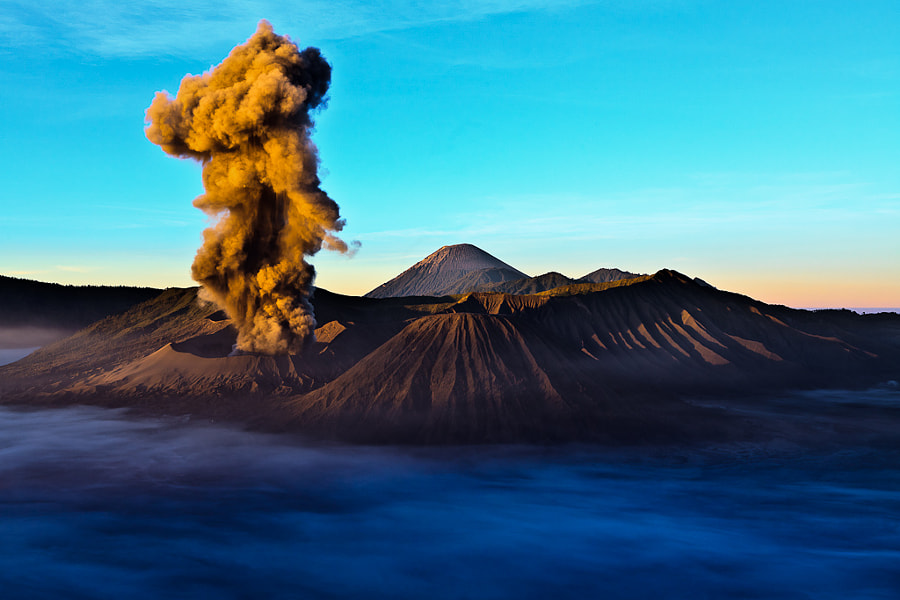 Photograph Mount Bromo Eruption by Zihe Yap on 500px